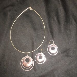 Silpada sterling silver necklace and ear rings
